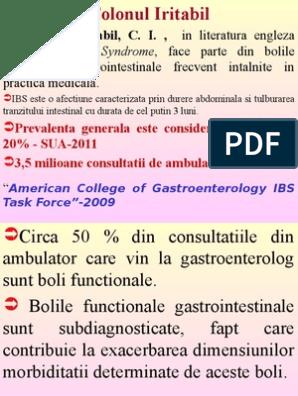 Sindromul intestinului iritabil: simptome și tratament, dietă cu IBS - Tipuri November