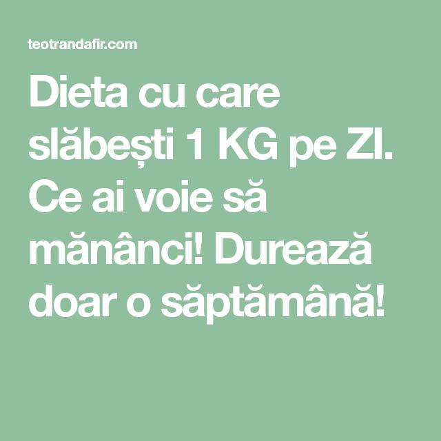 slabit 1 kg pe saptamana top 5 ierburi pentru pierderea în greutate
